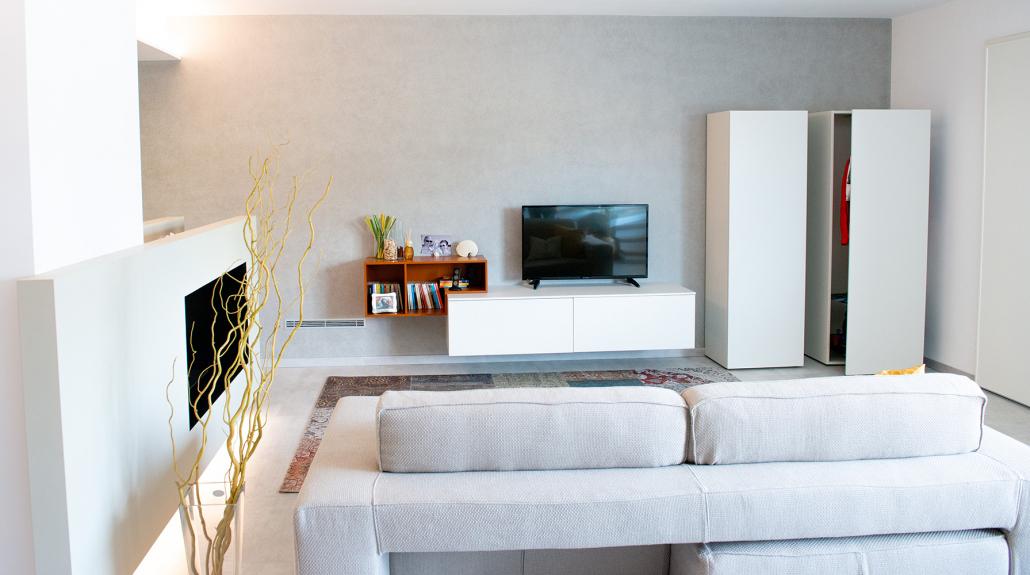 progettazione arredo soggiorno casa