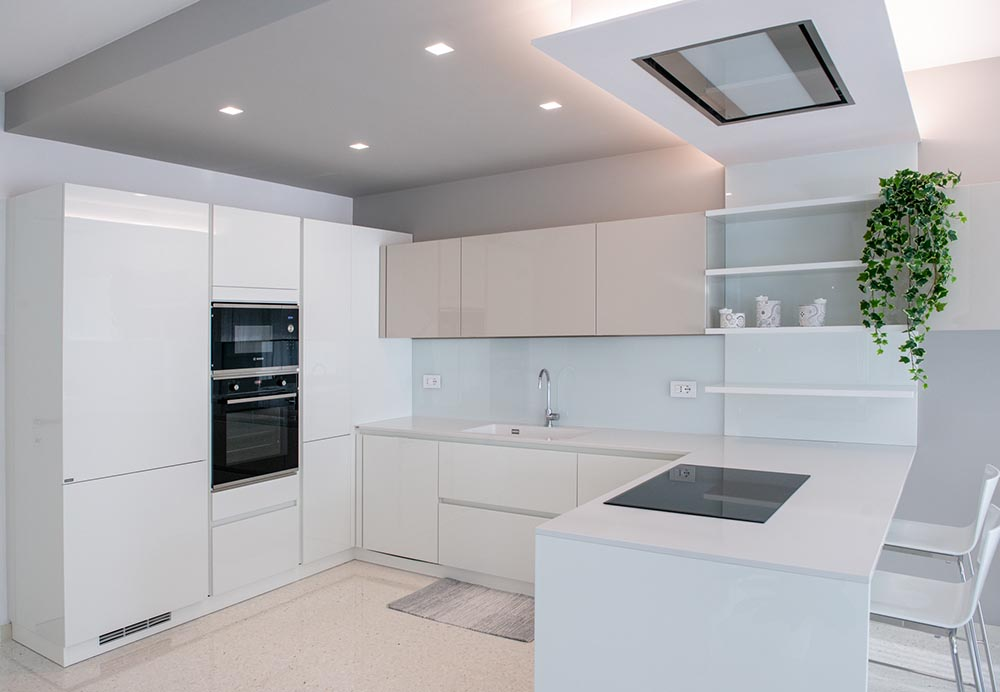 mobilificio cucina bianca padova