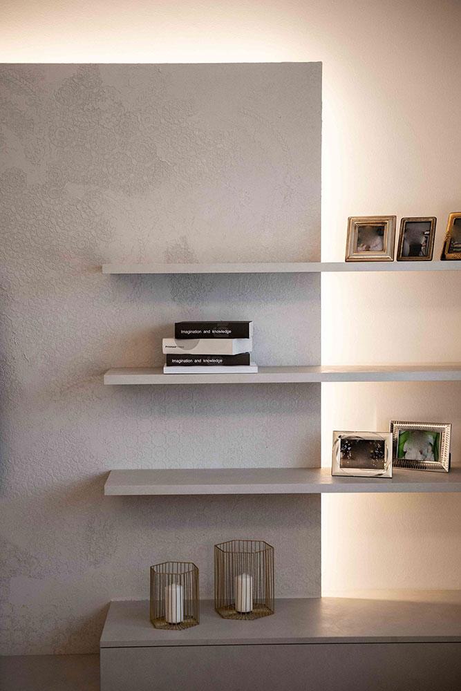 mensole moderne soggiorno verona