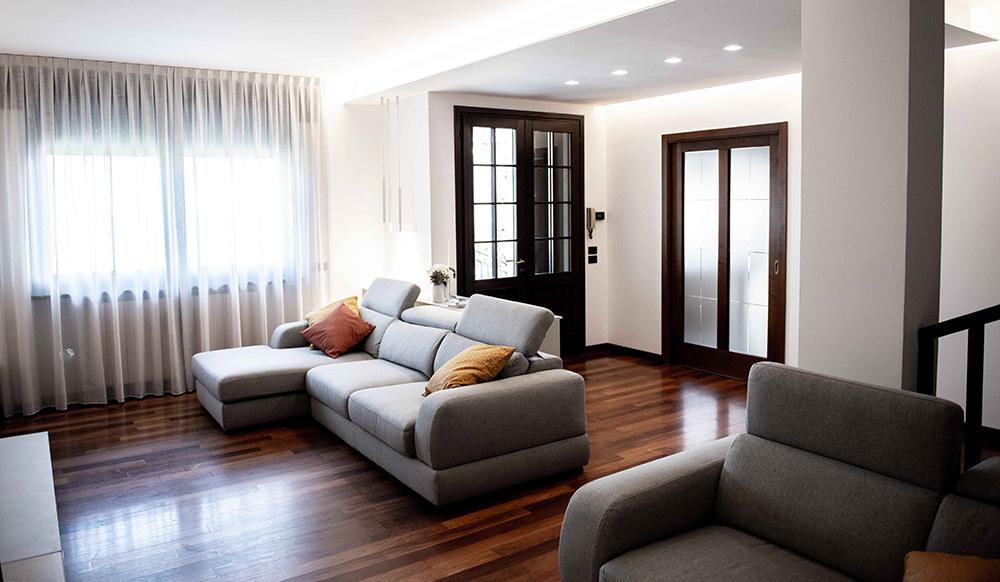soggiorno moderno prima e dopo verona