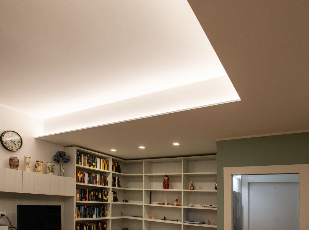 illuminazione controsoffitto soggiorno verona